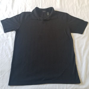 Men's Clairborne Black Polo Shirt Large